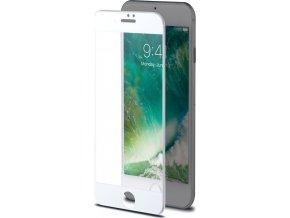 Ochranné tvrzené sklo CELLY 3D Glass pro Apple iPhone 7/8, bílé (sklo do hran displeje, anti blue-ray)
