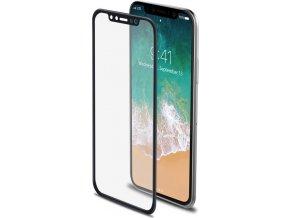 Ochranné tvrzené sklo CELLY 3D Glass pro Apple iPhone X, černé (sklo do hran displeje, anti blue-ray)