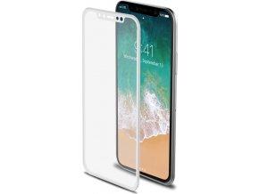 Ochranné tvrzené sklo CELLY 3D Glass pro Apple iPhone X, bílé (sklo do hran displeje, anti blue-ray)