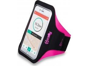 """Sportovní neoprénové pouzdro CELLY ARMBAND, Velikost XL pro telefony do 5"""", růžové"""