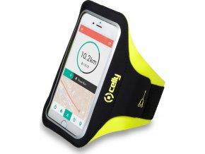 """Sportovní neoprénové pouzdro CELLY ARMBAND, velikost XXL pro telefony do 6,2"""", žluté"""