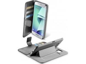 Pouzdro typu kniha CellularLine Book Agenda pro Samsung Galaxy S7 EDGE, černé