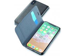 Pouzdro typu kniha CellularLine Book Essential pro Apple iPhone X, černé