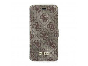 Pouzdro Guess 4G Uptow Book Brown pro iPhone 6/6S