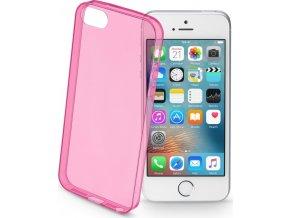 Barevné gelové pouzdro CELLULARLINE COLOR pro Apple iPhone 5/5S/SE, růžové