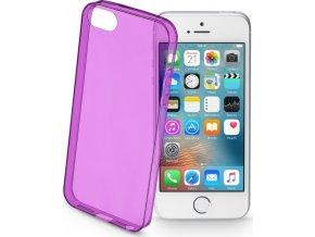 Barevné gelové pouzdro CELLULARLINE COLOR pro Apple iPhone 5/5S/SE, fialové