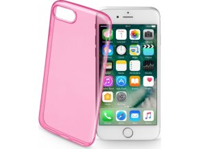 Barevné gelové pouzdro CELLULARLINE COLOR pro Apple iPhone 7/8, růžové