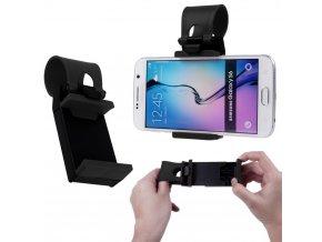 Univerzální držák telefonu na volant (černý)