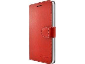 Pouzdro typu kniha FIXED FIT pro Apple iPhone 7/8, červené