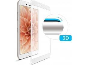 Ochranné tvrzené sklo FIXED 3D Full-Cover pro Apple iPhone 6/6S Plus, s lepením přes celý displej, bílé
