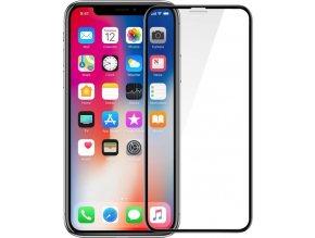 Ochranné tvrzené sklo FIXED 3D Full-Cover pro Apple iPhone X, s lepením přes celý displej, dustproof, černé, 0.33 mm