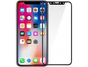 Ochranné tvrzené sklo FIXED 3D Full-Cover pro Apple iPhone X, s lepením přes celý displej, černé, 0.33 mm