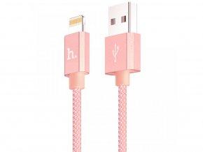 Certifikovaný MFI kabel lightning HOCO pro iPhone a iPad – UPF01 ROSE, 1,2m