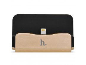 Dokovací stanice/stojánek HOCO CPH18 s lightning kabelem pro Apple iPhone / iPod – Gold