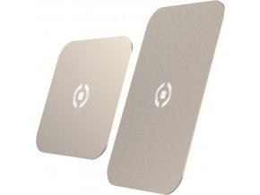 Plíšky CELLY GHOSTPLATE kompatibilní s magnetickými držáky pro mobilní telefony, zlatý
