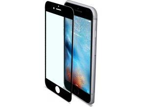 Ochranné tvrzené sklo CELLY Glass pro Apple iPhone 7 Plus/8 Plus, černé (sklo do hran displeje, anti blue-ray)