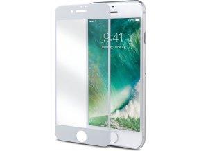 Ochranné tvrzené sklo CELLY Glass pro Apple iPhone 7 Plus/8 Plus, bílé (sklo do hran displeje, anti blue-ray)