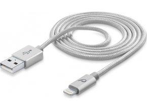 USB kabel Cellularline Unique Desing pro iPhone, Lightning konektor, stříbrný