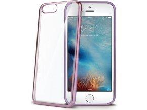 TPU pouzdro CELLY Laser - lemování s kovovým efektem pro iPhone 7 Plus/8 Plus, růžovozlaté