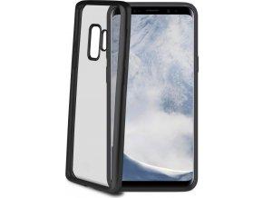 TPU pouzdro CELLY Laser - lemování s matným kovovým efektem pro Samsung Galaxy S9, černé