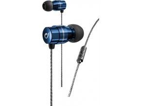 In-Ear sluchátka CELLULARLINE RHYTM, AQL® certifikace, Dual Driver Technology, metalická modrá