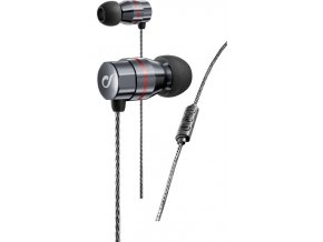 In-Ear sluchátka CELLULARLINE RHYTM, AQL® certifikace, Dual Driver Technology, metalická šedá
