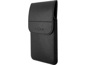 Pouzdro FIXED Pocket s klipem, PU kůže, velikost 5XL, černé