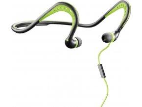 Sportovní ergonomická sluchátka CellularLine SCORPION, černo-zelená