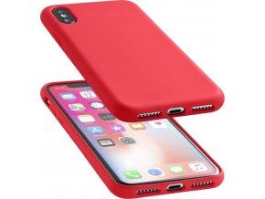 Ochranný silikonový kryt CellularLine SENSATION pro iPhone X, červený