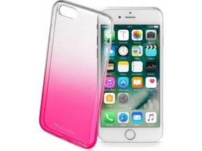 Ultratenký průhledný zadní kryt CellularLine SHADOW pro Apple iPhone 7/8, TPU, růžový