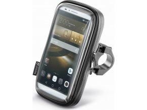 """Voděodolné pouzdro Interphone SMART pro telefony do velikosti 6.0"""", úchyt na řídítka, černé"""