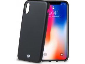 TPU pouzdro CELLY Softmatt pro Apple iPhone X, matné provedení, černé