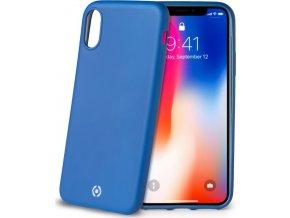 TPU pouzdro CELLY Softmatt pro Apple iPhone X, matné provedení, modré