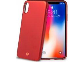 TPU pouzdro CELLY Softmatt pro Apple iPhone X, matné provedení, červené