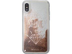 Gelové pouzdro Cellularline Stardust pro Apple iPhone X, motiv Shine