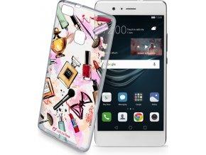 Průhledné gelové pouzdro Cellularline STYLE pro Huawei P9 Lite, motiv GLAM