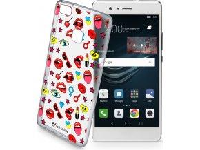 Průhledné gelové pouzdro Cellularline STYLE pro Huawei P9 Lite, motiv POP