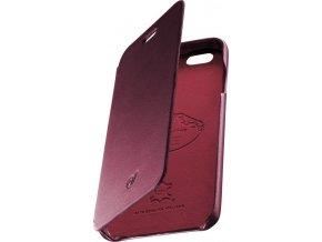 Luxusní pouzdro typu kniha CellularLine SUITE pro Apple iPhone 6/6S, pravá kůže, červené