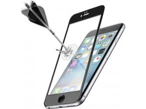 Ochranné tvrzené sklo pro celý displej CellularLine CAPSULE pro Apple iPhone 6 Plus, černé