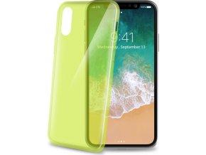 TPU pouzdro CELLY Ultrathin pro Apple iPhone X, světle zelené