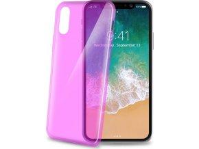 TPU pouzdro CELLY Ultrathin pro Apple iPhone X, růžové