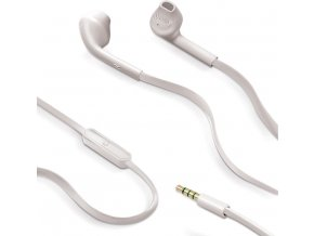 Stereo sluchátka CELLY s mikrofonem, 3,5mm jack, flat kabel, bílá