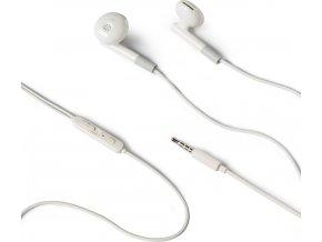 Stereo sluchátka CELLY s mikrofonem, 3,5mm jack, bílá