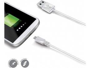 Datový USB kabel CELLY s konektorem microUSB, bílý