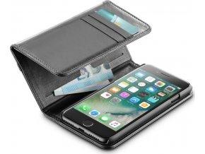 Pouzdro typu kniha s peněženou CELLULARLINE WALLET pro Apple iPhone 7/8, černé