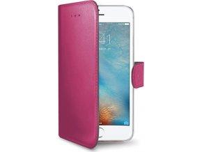 Pouzdro typu kniha CELLY Wally pro Apple iPhone 7 Plus/8 Plus, PU kůže, růžová