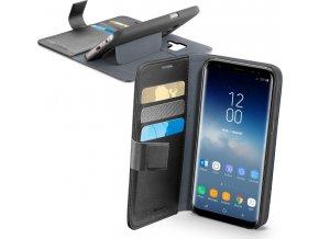 Pouzdro typu kniha CellularLine Book Agenda pro Samsung Galaxy S9, černé