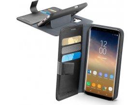 Pouzdro typu kniha CellularLine Book Agenda pro Samsung Galaxy S9 Plus, černé