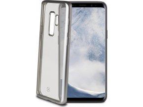 TPU pouzdro CELLY Laser - lemování s matným kovovým efektem pro Samsung Galaxy S9 Plus, stříbrné