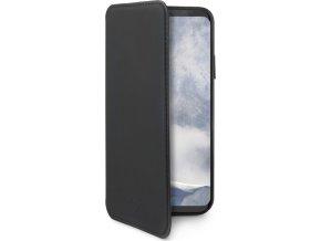 Pouzdro typu kniha CELLY Prestige pro Samsung Galaxy S9 Plus, PU kůže, černé